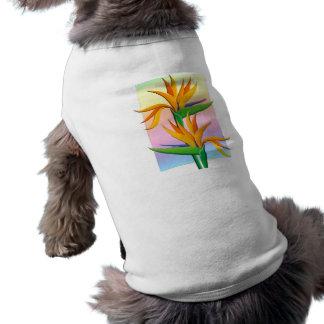 Birds of Paradise with Pastel Rainbow Background Shirt