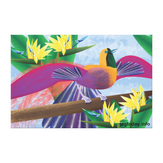 Birds of Paradise Wrapped Canvas Canvas Print