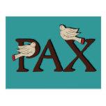 Birds of Pax (Peace) Postcard