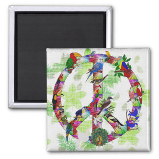 Birds Of Peace 2 Inch Square Magnet