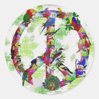 Birds Of Peace Classic Round Sticker