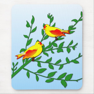 Birds of Peace Mouse Pad