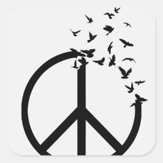Birds of Peace Square Sticker