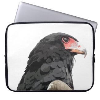 Birds of Prey African Bateleur Black Eagle Art Laptop Sleeve