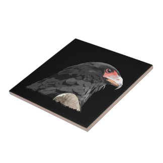 Birds of Prey Black Eagle Art for Bird Lovers Ceramic Tiles