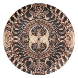 Birds of Prey Mandala Melamine Plate