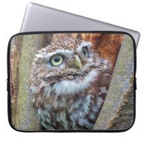Birds of prey owl photograph laptop sleeve