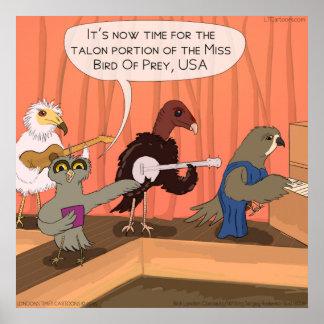 Birds Of Prey Talon Contest Funny Poster