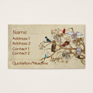BIRDS OF SAME FEATHER BRANCH  Business Card
