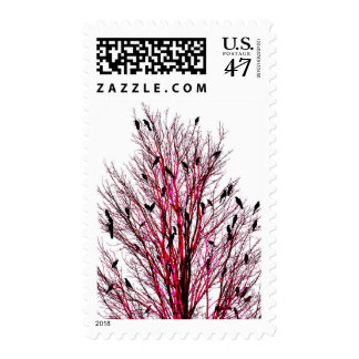 """Birds of Texas Red"" JTG Art Postage Stamp"