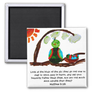Birds of the Air 2 Inch Square Magnet