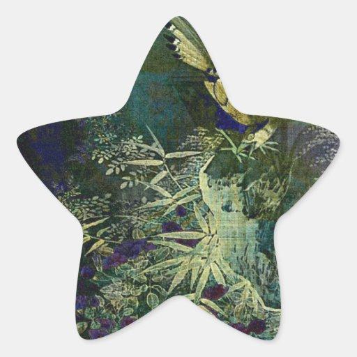 Birds of the Jungle Star Sticker