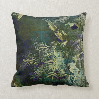 Birds of the Jungle Throw Pillow