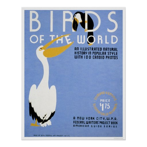 Birds Of The World 1938 WPA Poster