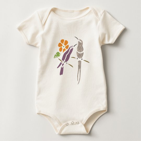 Birds on a branch baby bodysuit