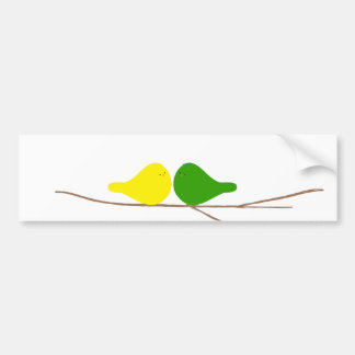 Birds on a Branch Bumper Sticker