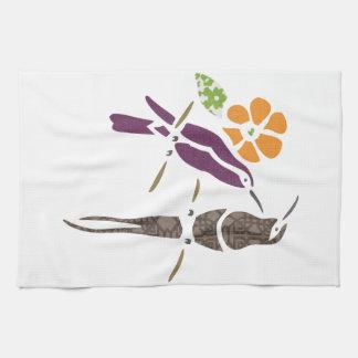Birds on a branch kitchen towel