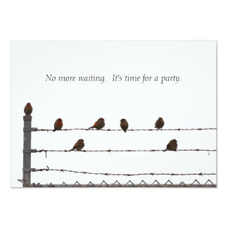 Birds on a Fence Party Invitation