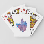 Birds on a floating island playing cards