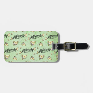 Birds on a Limb Floral on Green Tag For Luggage
