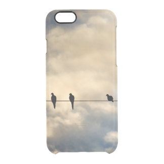 Birds on a Line Clear iPhone 6/6S Case