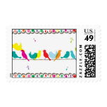 birds on a line postage stamps