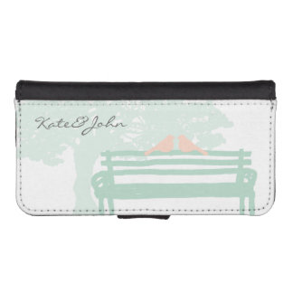 Birds on a Park Bench Wedding Anniversary iPhone SE/5/5s Wallet