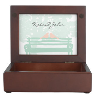 Birds on a Park Bench Wedding Anniversary Memory Boxes