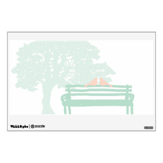 Birds on a Park Bench Wedding Anniversary Wall Decal