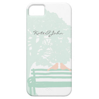 Birds on a Park Bench Wedding iPhone 5 Cases
