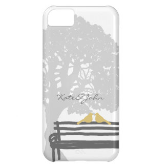 Birds on a Park Bench Wedding Cover For iPhone 5C