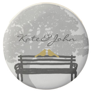 Birds on a Park Bench Wedding Chocolate Covered Oreo