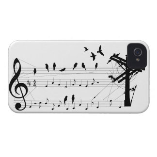 Birds on a Score iPhone 4 Cases