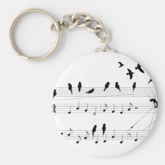 Birds on a Score keychain