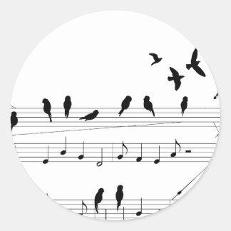 Birds on a Score sticker