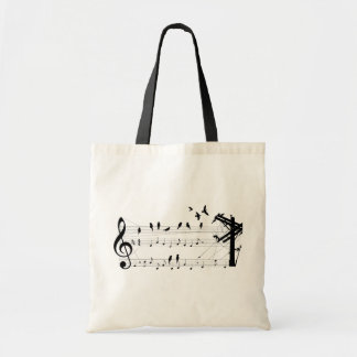 Birds on a Score tote bag