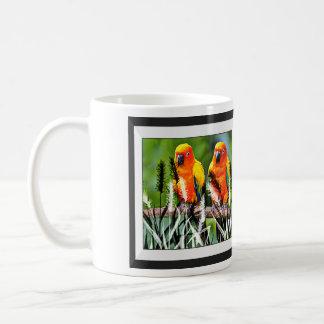 Birds on a stick classic white coffee mug