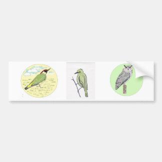 Birds on a sticker bumper sticker