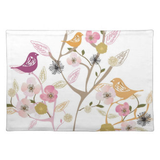 Birds on a tree American MoJo Placemat Cloth Placemat