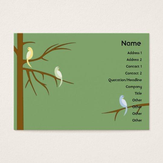 Birds on a Tree - Chubby Business Card
