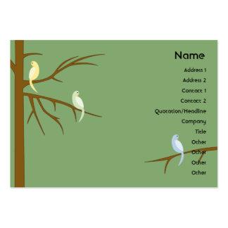 Birds on a Tree - Chubby Business Card Template