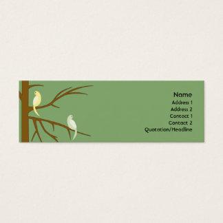 Birds on a Tree - Skinny Mini Business Card