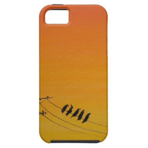 Birds On A Wire at Sunset iPhone 5 Cases