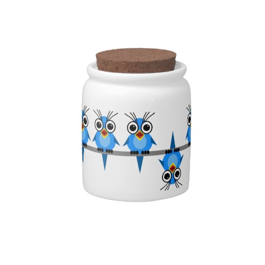 birds on a wire candy jars