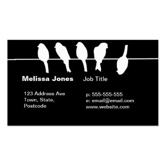 Birds on a wire – dare to be different (black) business card templates