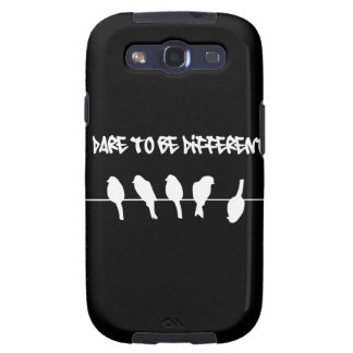 Birds on a wire – dare to be different (black) galaxy s3 cover