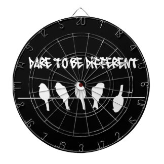 Birds on a wire – dare to be different (black) dart boards