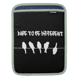 Birds on a wire – dare to be different (black) sleeve for iPads