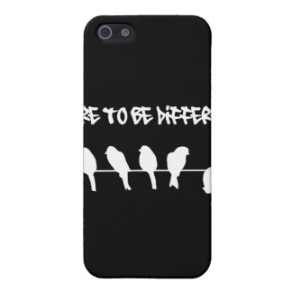 Birds on a wire – dare to be different (black) iPhone SE/5/5s case