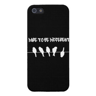 Birds on a wire – dare to be different (black) iPhone SE/5/5s cover